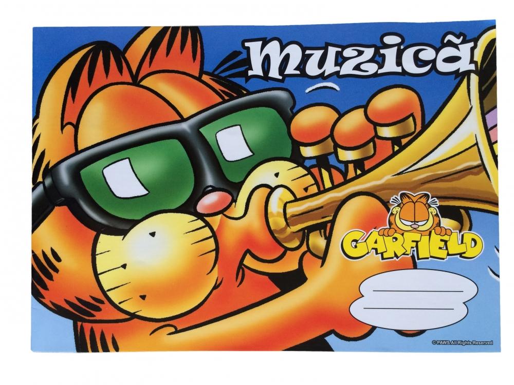 Caiet Muzica Garfield
