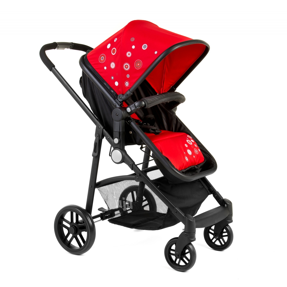 Carucior 2 in 1 Juju Happy In The Park Rosu-Negru