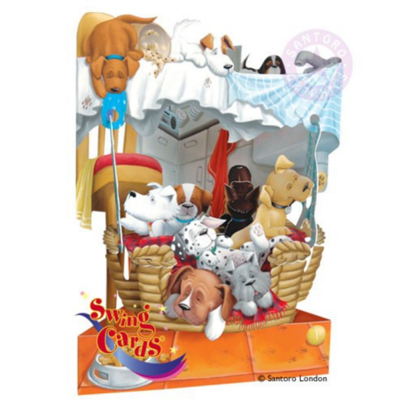Felicitare 3D Catei in cosulet-Swing Cards