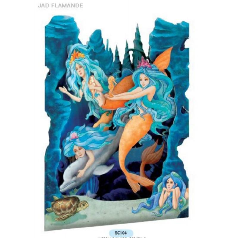 Felicitare 3D Sirene-Swing Cards