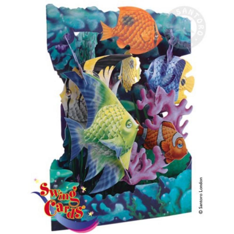 Felicitare 3D Viata marina-Swing Cards