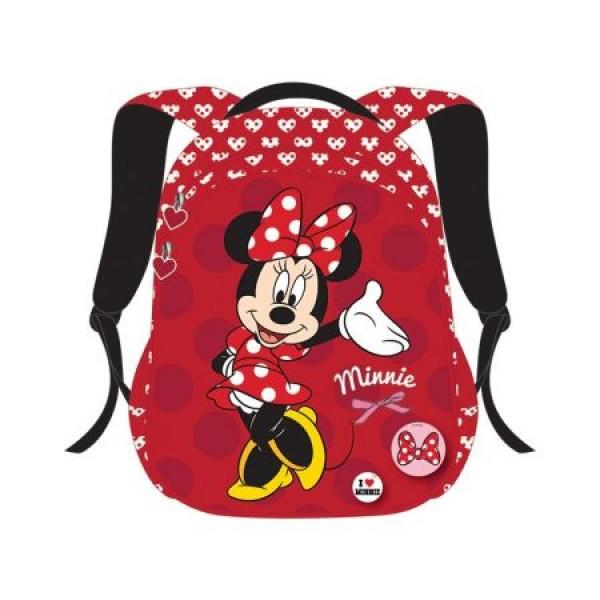 Ghiozdan CL 0 Minnie Mouse Rosu Pigna si minge cadou