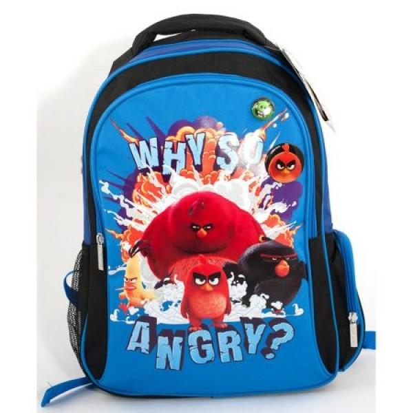 Ghiozdan CL 14 Angry Birds Albastru Pigna si minge cadou