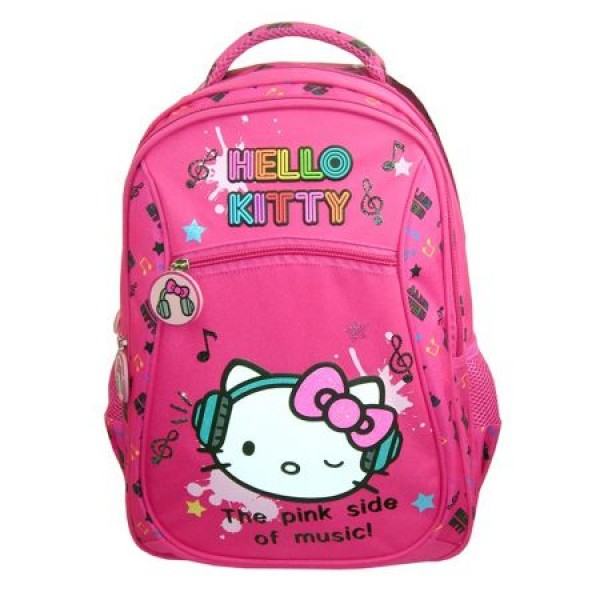 Ghiozdan clasele I-IV Hello Kitty The Pink Side Of Music Pigna si minge cadou