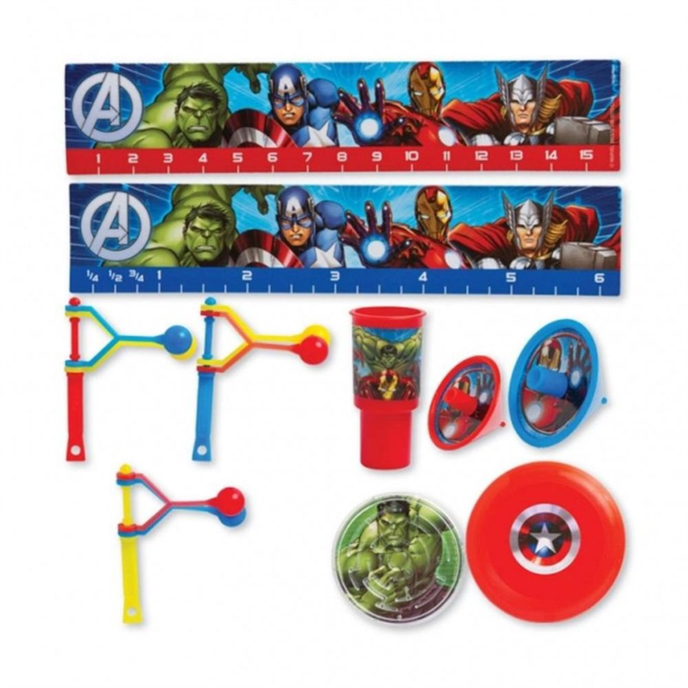 Jucarii party Avengers, Amscan 393375-55, Set 48 piese