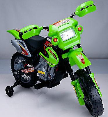 Motocicleta Electrica 6v Cu Roti Ajutatoare Verde