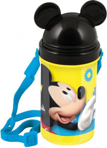 Pahar cu pai, capac si curea umar BBS Mickey Mouse, 500 ml