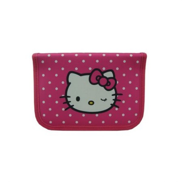 Penar neechipat 1 fermoar 2 extensii Hello Kitty Roz inchis cu buline Pigna