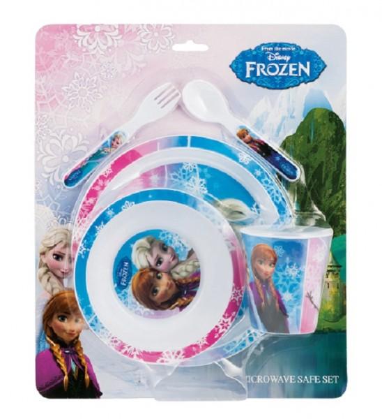 Set 2 Farfurii  Pahar Si Tacamuri Bbs Frozen