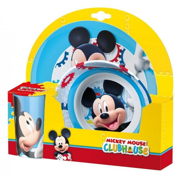 Set 2 farfurii si pahar pentru copii BBS Mickey Mouse