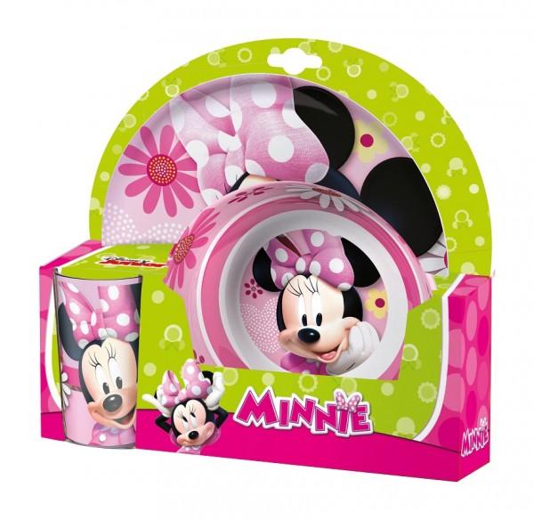 Set 2 farfurii si pahar pentru copii BBS Minnie Mouse