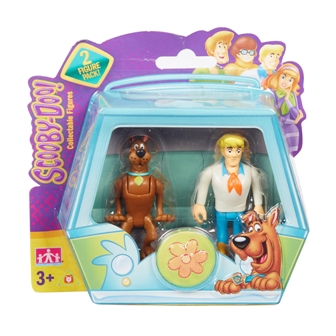 Set 2 figurine 7 cm Scooby Doo si Fred