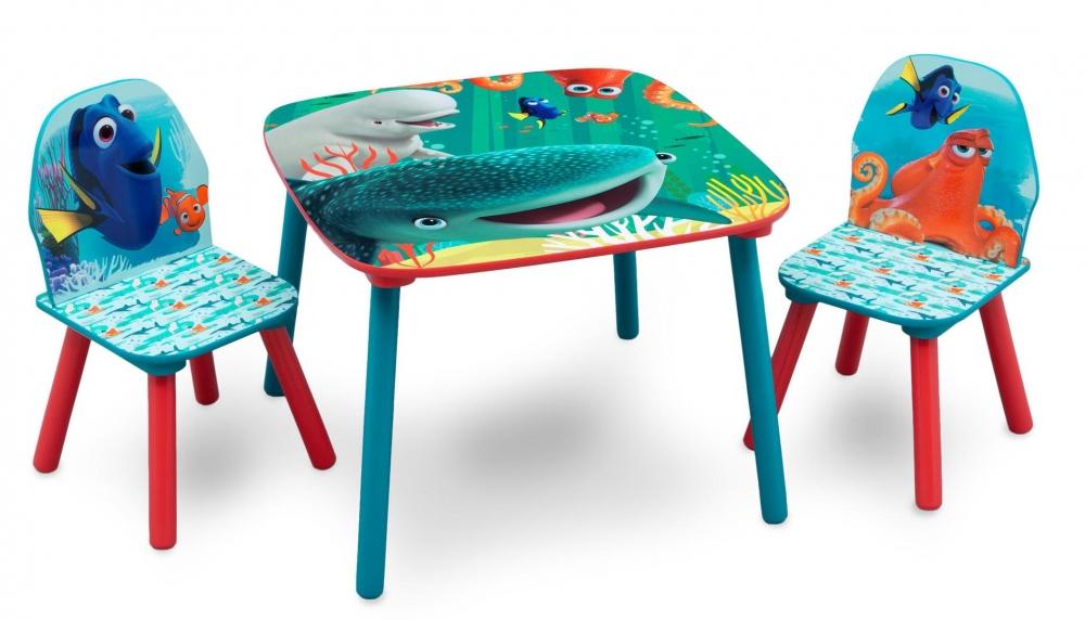 Set masuta si 2 scaunele Finding Dory