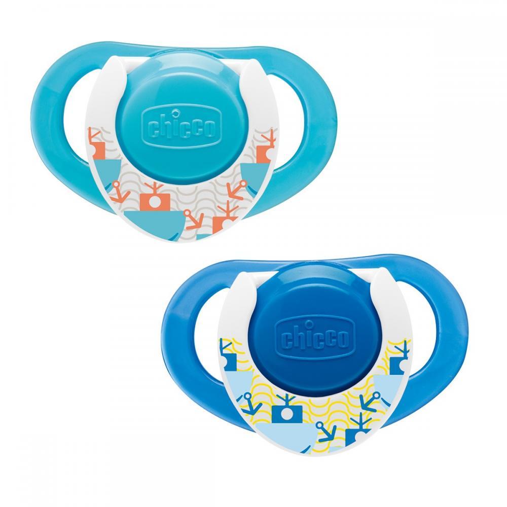 Suzeta Chicco silicon Physio Compact forma ergonomica 16-36 luni 2 buc blue