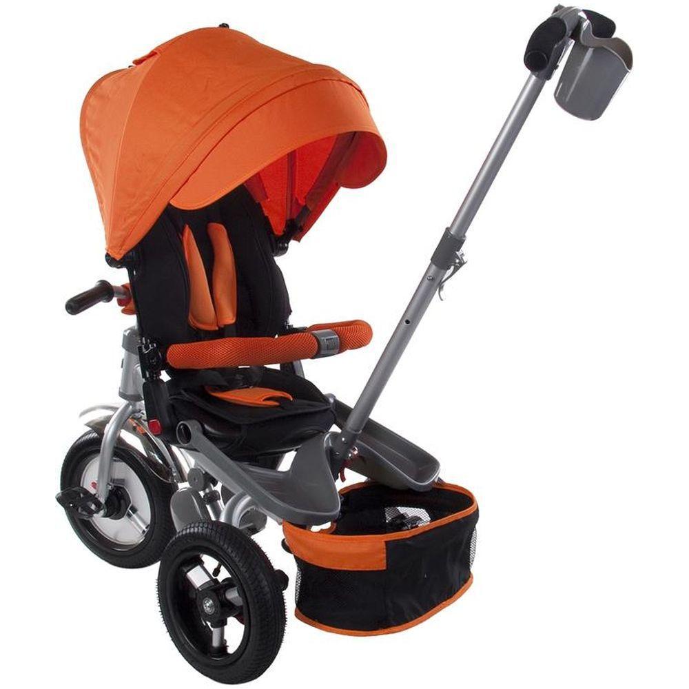 Tricicleta multifunctionala Little Tiger T400 Portocaliu