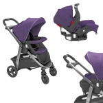 Carucior Transformabil Sky 2 in 1 Purple Shadow