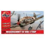 Kit aeromodele Airfix 02062 Avion Messerschmitt Bf 109E-7/Trop Scara 1:72