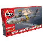 Kit aeromodele Airfix 3082A Avion North American F-86F/E(M) Sabre Scara 1:72
