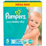 Scutece Pampers Active Baby 5 Junior Mega Box 111 buc
