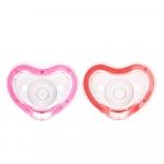 Set 2 suzete ortodontice 0+ Pink