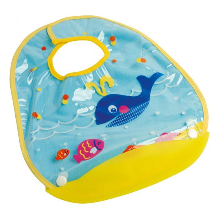 Baveta Turcoaz Balene Cu Buzunar Rigid Detasabil