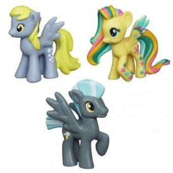 My Little Pony - set 3 figurine- Thundery si prietenul lor