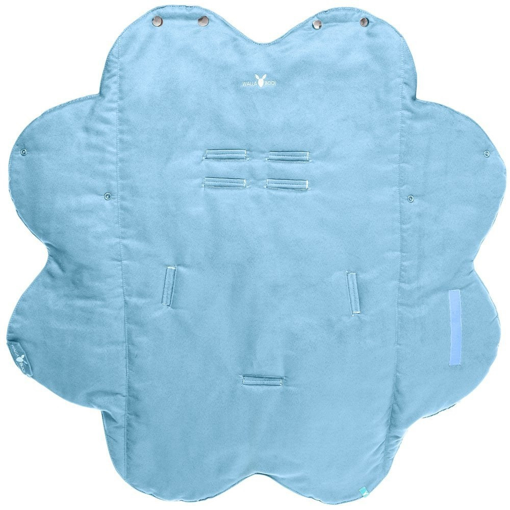 Paturica Floare Cu Blanita Soft Blue Wallaboo