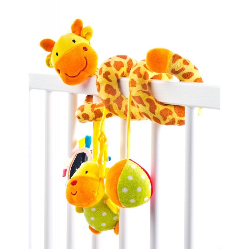 Spirala cu jucarii pentru patutcarucior Giraffe