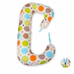 Soft Plus Perna 3 in 1 pentru gravide si bebelusi Cerculete colorate