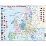 Puzzle Harta Politica a Europei (EN), 70 piese Larsen LRK63-GB