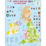 Puzzle Harta Politica a Marii Britanii si a Irlandei (EN), 48 piese Larsen LRK18