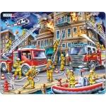 Puzzle Pompieri, 43 Piese Larsen LRUS21