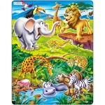 Puzzle Safari, 18 Piese Larsen LRUS16