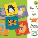 Puzzle lemn Djeco Animale