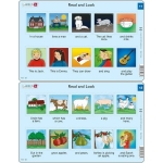 Set 10 Puzzle-uri Read and Look 11 -20 (EN), 10 piese Larsen LRRA6