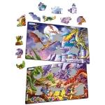 Set 2 Puzzle-uri  Dragoni, 28 piese Larsen LRU12