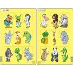Set 2 Puzzle-uri Animale, 9 piese Larsen LRN6