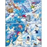 Set 2 Puzzle-uri Arctica, 17 piese Larsen LRU17