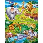 Set 2 Puzzle-uri Safari, 14 piese Larsen LRU11