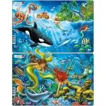 Set 2 Puzzle-uri Sirene, 15 piese Larsen LRU15