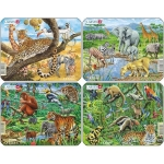 Set 4 Puzzle-uri Animale Exotice, 11 piese Larsen LRZ8