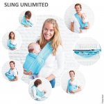 Sling bebe Unlimited 7 in 1 Minimonkey Turcoaz