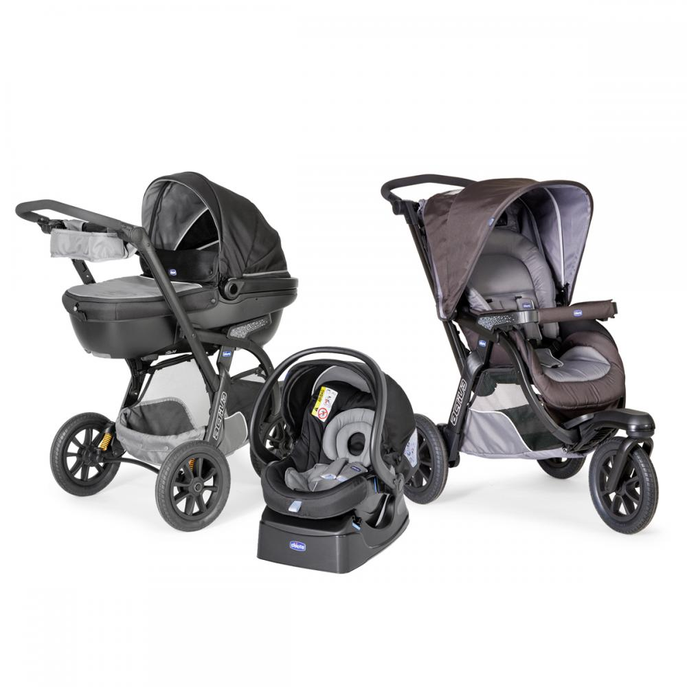 Carucior Chicco Trio Activ3 Car Kit 0+luni Iron