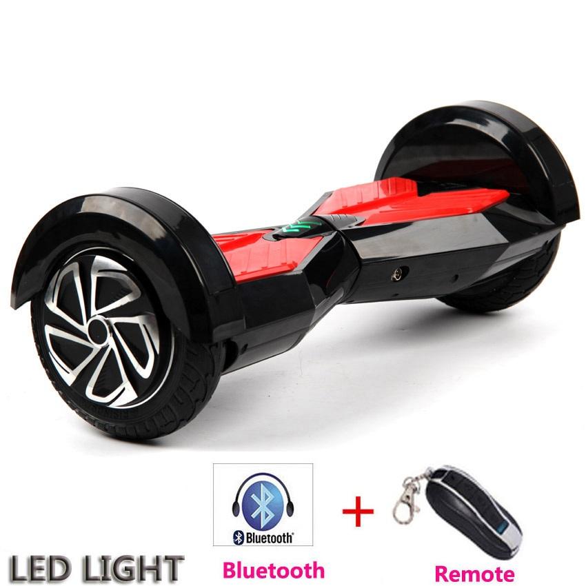 Hoveboard Electric Alien 8 Negru Bluetooth Telecomanda si Geanta Cadou