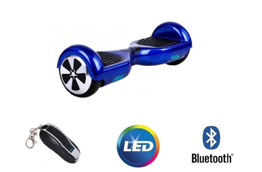 Hoveboard electric Lunar SDB 6.5 Blue Bluetooth si Telecomanda imagine