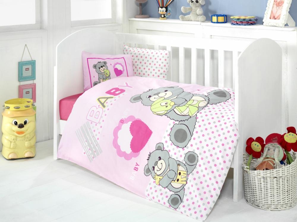 Lenjerie 4 piese Little Bear Pink