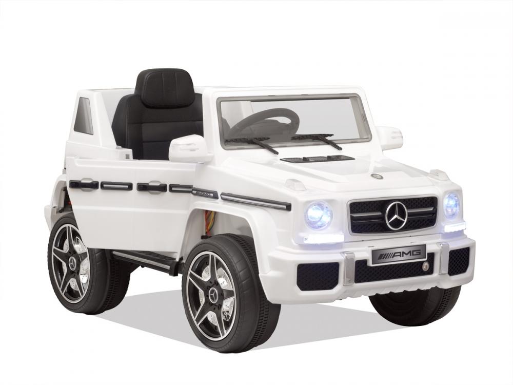 Masinuta electrica cu telecomanda Mercedes Benz G63 White