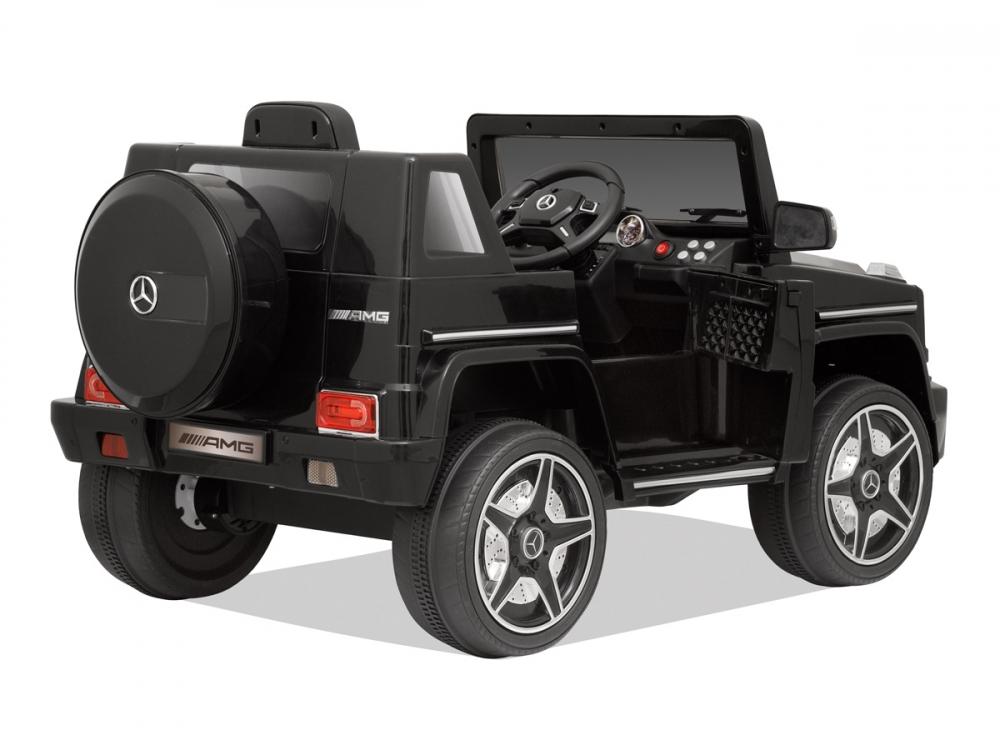 Masinuta electrica cu telecomanda Mercedes Benz G63 Black