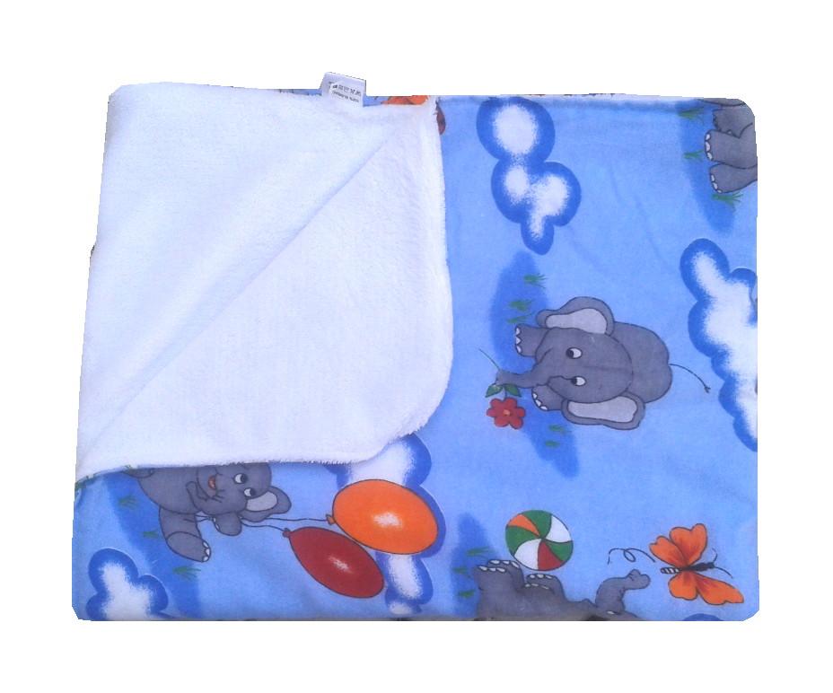 Paturica Dubla Pufoasa Elefantei Pe Albastru