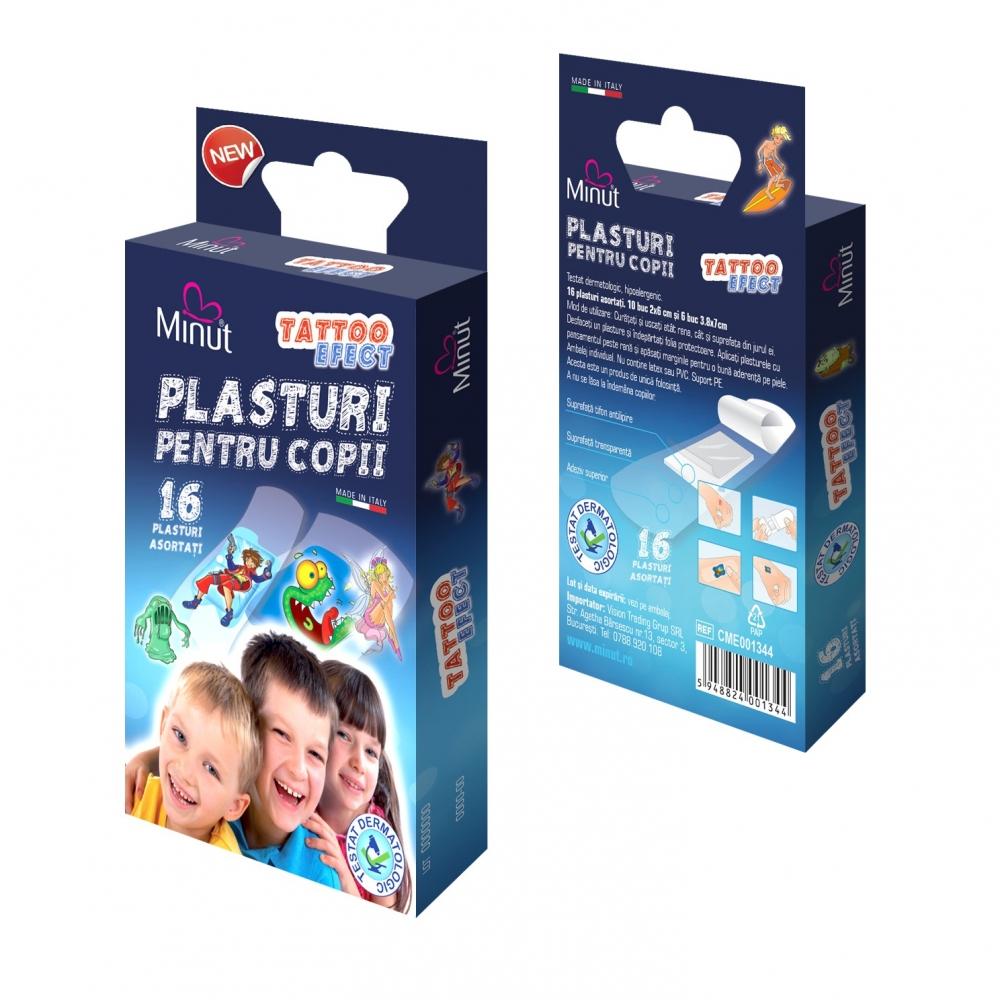 Plasturi Minut pentru copii TATTOO EFECT